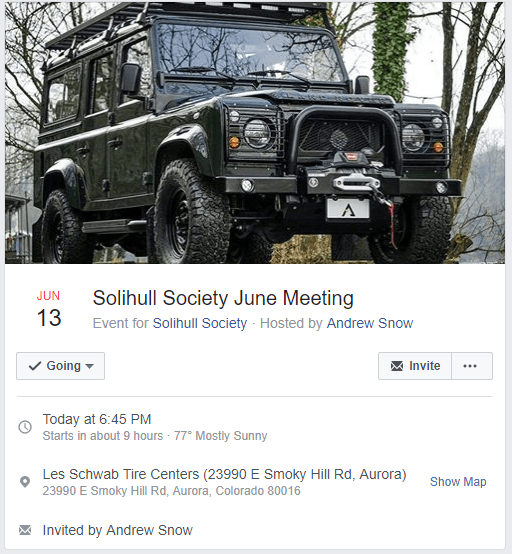 Solihull Society June Meeting